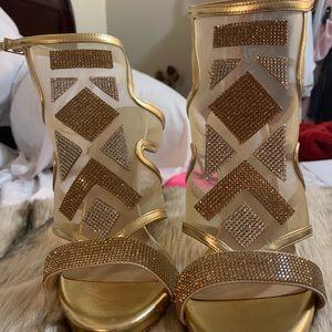 Gold color heels